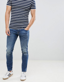Tom Tailor Skinny Jeans In Dark Blue Wash afbeelding