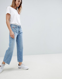 Tommy Hilfiger High Waist Crop Jean With Heart afbeelding