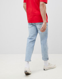 Tommy Jeans 90s Sailing Capsule Cropped Tapered Jeans In Light Wash afbeelding
