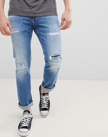 Tommy Jeans Scanton Distressed Slim Fit Jeans In Light Wash afbeelding