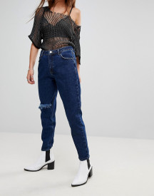 Uncivilised Ripped Knee Mom Jeans afbeelding