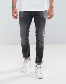 United Colors Of Benetton Jeans In Skinny Fit With Rip And Repair afbeelding