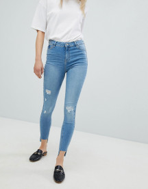 Urban Bliss Distressed Ripped Skinny Jean In Light Wash afbeelding