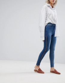 Urban Bliss Lace Up Skinny Jean afbeelding