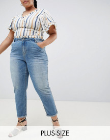 Urban Bliss Plus Mom Jeans In Light Wash afbeelding