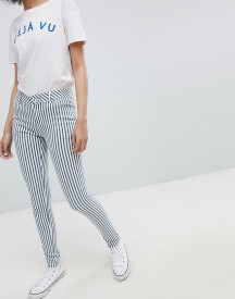 Urban Bliss Striped Skinny Jeans afbeelding