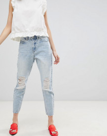 Vero Moda Distressed Mom Jeans afbeelding