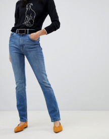 Warehouse High Waisted Sculpting Skinny Jeans In Mid Wash afbeelding