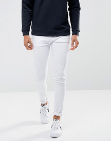 Waven Super Skinny Spray On Jeans In White afbeelding