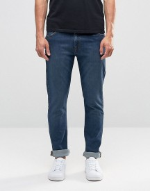 Weekday Form Super Skinny Jeans In Stretch Mtw Mid Blue afbeelding