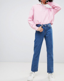 Weekday Mid Rise Slim Straight Jean In Organic Cotton afbeelding