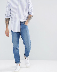 Weekday Sunday Mint Blue Tapered Jeans afbeelding