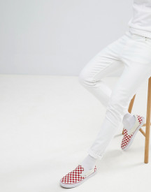 Weekday Sunday Stretch White Tapered Jeans afbeelding