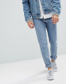 Weekday Sunday Tapered Fit Jeans Bate Blue afbeelding