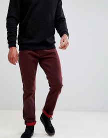 Weekday Vacant Straight Fit Rosewood Punk Jeans afbeelding
