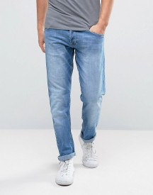 Wrangler Tapered Fit Jeans In Cocktail Time Blue afbeelding