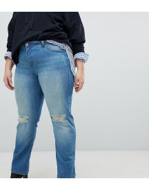 Zizzi Gemma High Waist Regular Fit Jean With Rips afbeelding