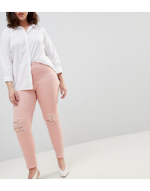 Zizzi Slim Jean With Raw Hem Detail afbeelding