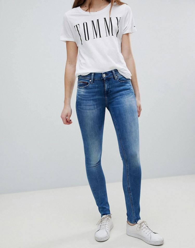 Image Tommy Jeans Nora Mid Rise Skinny Jean