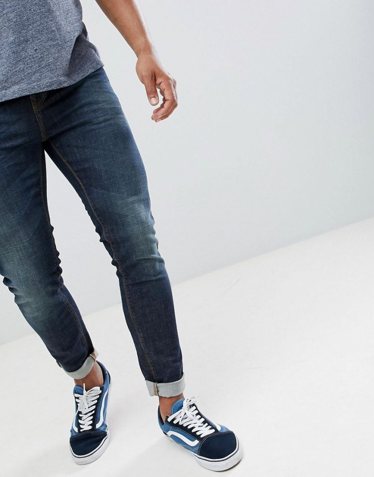 Image United Colors Of Benetton Skinny Fit Jeans In Mid Wash