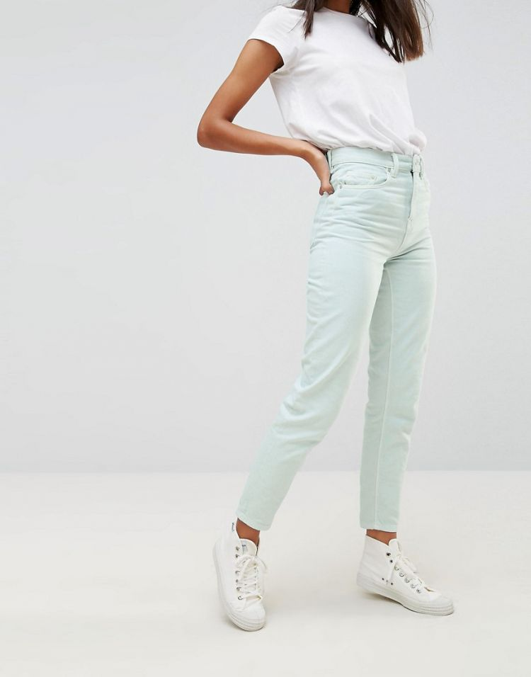 Image Waven Elsa Pale Mint Mom Jeans