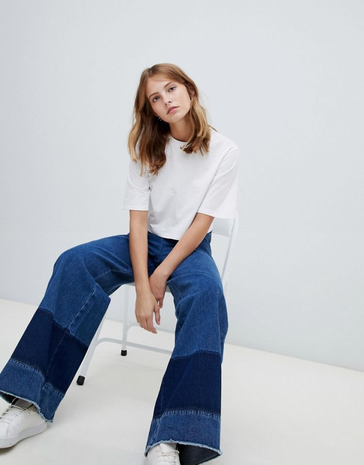 Image Waven Nella Block Denim Wide Leg Jeans