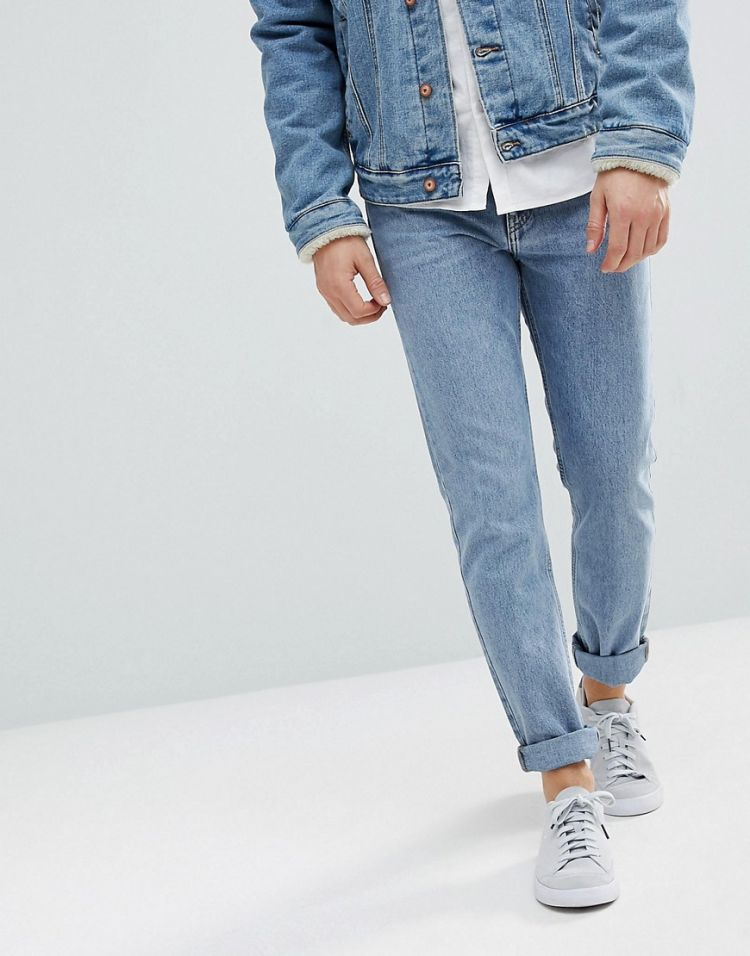 Image Weekday Sunday Tapered Fit Jeans Bate Blue