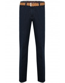 Meyer Two-tone Jeans Chicago Donkerblauw Katoen Wol afbeelding