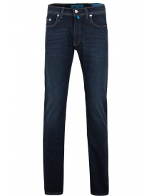 Pierre Cardin Lyon Tapered Jeans Donkerblauw afbeelding