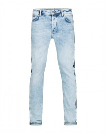 Heren Skinny Tapered Stretch Contrast Stripe Jeans afbeelding
