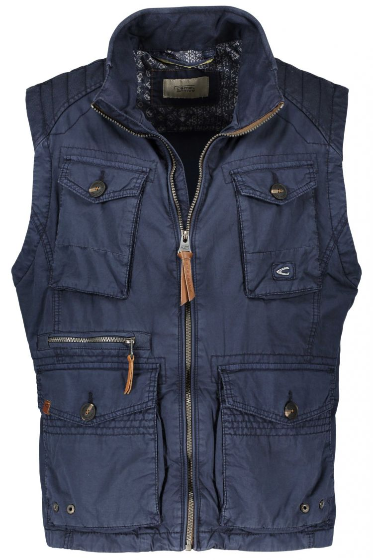 Image Sale Camel Active Bodywarmer Navy Garment Dyed