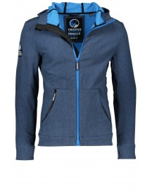 Sale Hooded Superdry Softshell Jack Jeans Blauw afbeelding