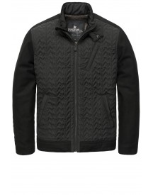 Sale Vanguard Biker Jacket Faded Nylon Zwart afbeelding