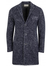 Sale Wool & Co Mantel Blauw Melange Wol Blend afbeelding