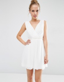 Asos Pleated Mini Skater Dress With Embellished Waist afbeelding