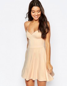 Asos Scuba Strappy Mini Skater Dress afbeelding