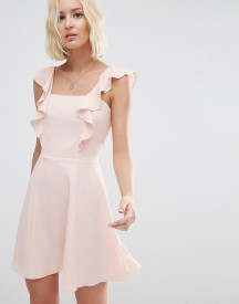 Asos Skater Dress With Square Neck And Ruffle Detail afbeelding