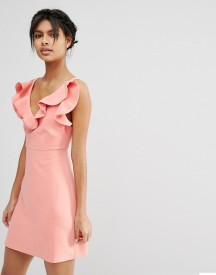 Asos Structured Frill A-line Mini Dress afbeelding