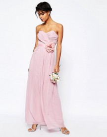 Asos Wedding Chiffon Maxi Bandeau Dress With Detachable Corsage Belt afbeelding