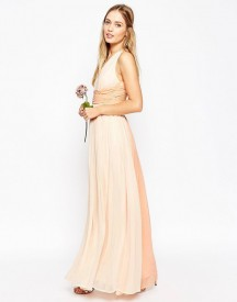 Asos Wedding Hollywood Contrast Maxi Dress afbeelding