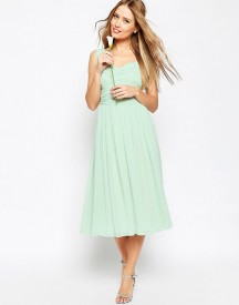 Asos Wedding Ruched Panel Midi Dress afbeelding