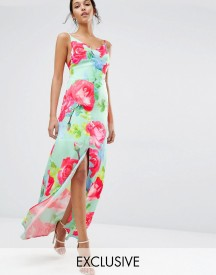 Every Cloud Rose Print Strappy Maxi Dress afbeelding