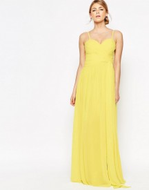 Forever Unique Sweetheart Plunge Maxi Dress With Wrap Skirt afbeelding