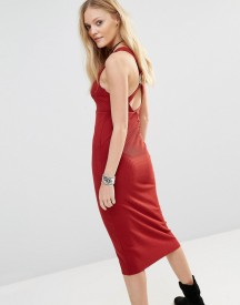 Free People All The Right Angles Midi Dress afbeelding