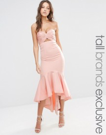 Jarlo Tall Bandeau Cutout Midi Dress With Fishtail Detail afbeelding