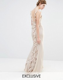 Jarlo Wedding Maxi Dress With Fishtail And Ruffles At Back afbeelding