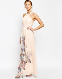 Little Mistress High Neck Maxi Dress With Open Back afbeelding
