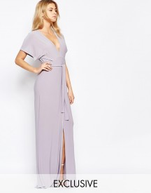 Love Plunge Tie Front Split Maxi Dress afbeelding