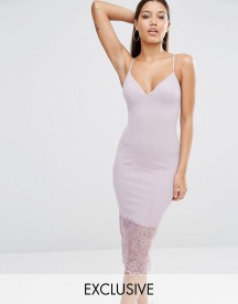 Missguided Lace Hem Midi Dress afbeelding