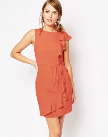 Oasis Frill Side Crepe Dress afbeelding